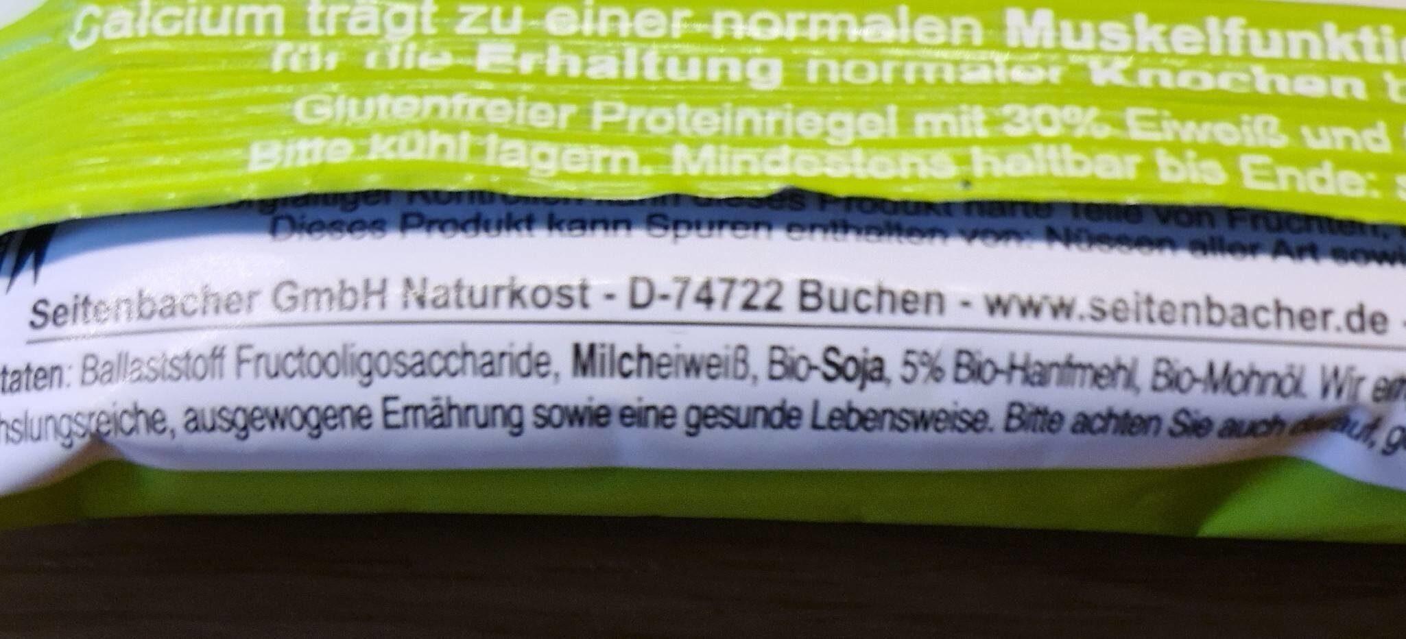 Seitenbacher Hanf-Riegel, CARBS 7.0 - Prodotto - en