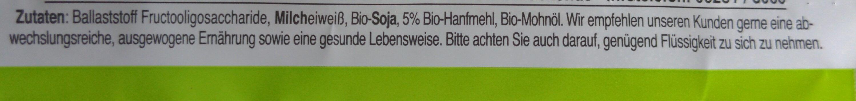 Seitenbacher Hanf-Riegel, CARBS 7.0 - Ingredienti - en
