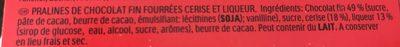 Mon Chéri - Ingredienti - fr