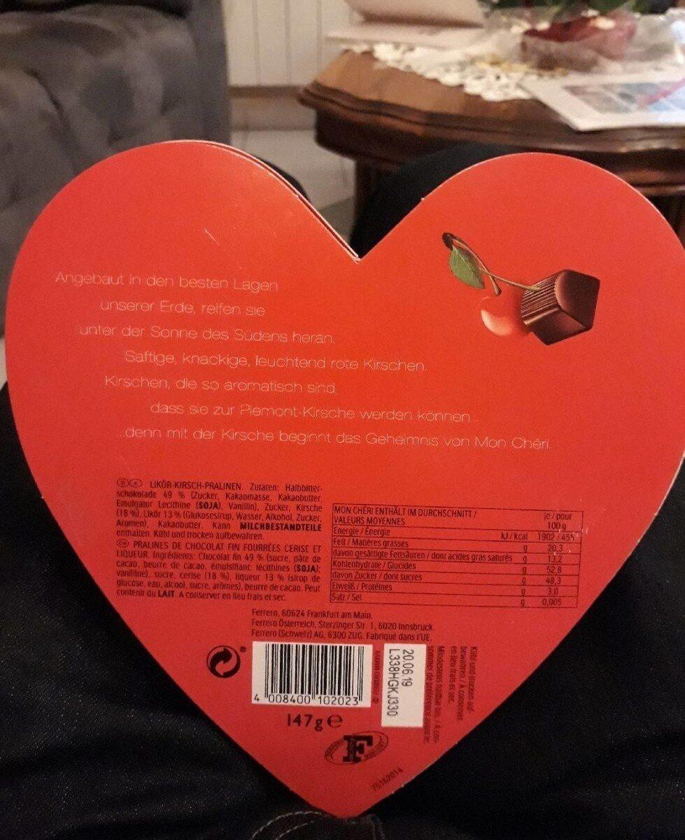 Ferrero Mon Chéri Herz - Valori nutrizionali - fr