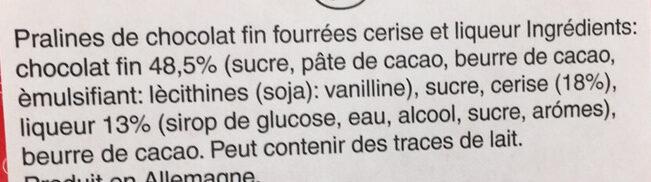 Mon Chéri - Piémont-kirsche - Ingredienti - fr