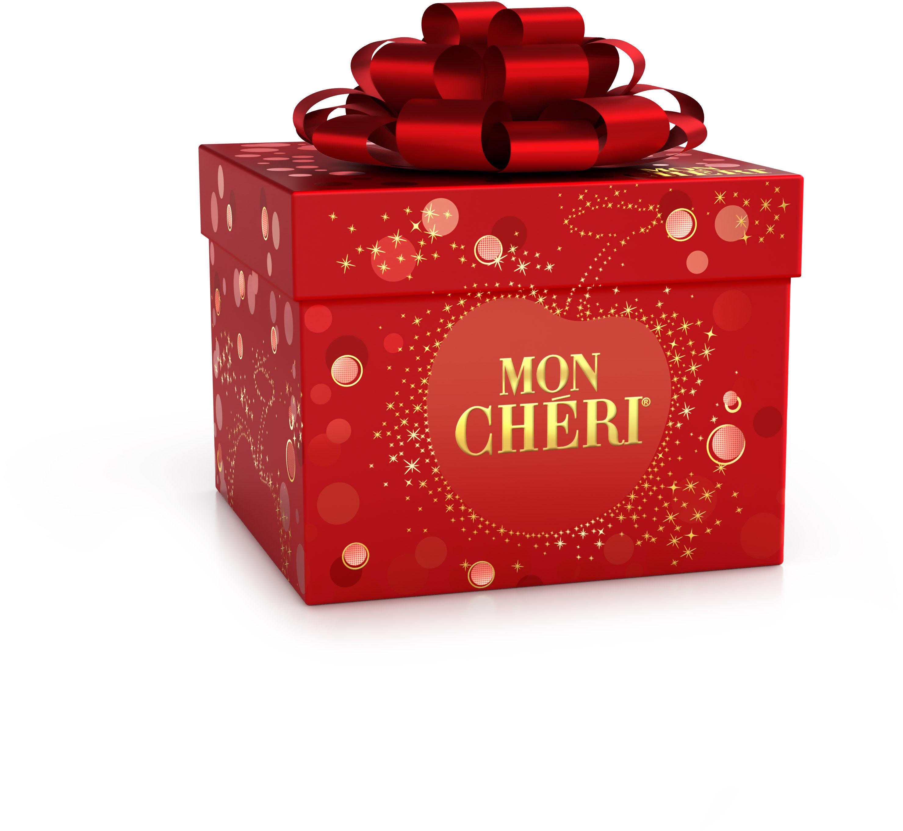 Mon cheri cerise bonbons de chocolat noir fourres cerise et liqueur cube de 27 bouchees - Produit - fr