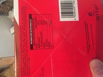 Mon cheri cerise t27 cube de 27 bouchees - Ingrédients - fr