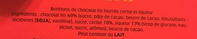 Mon Chéri Stern - Ingredienti - fr