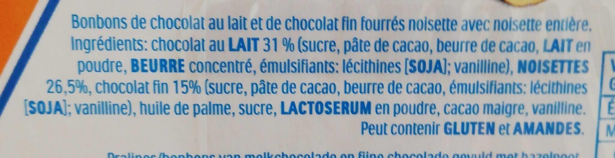 Ferrero Küsschen - Ingrédients - fr