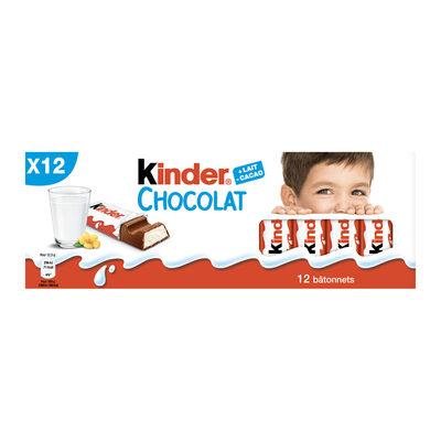 Kinder chocolat - chocolat au lait avec fourrage au lait 12 barres - 10