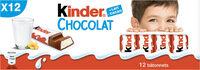 Kinder chocolat - chocolat au lait avec fourrage au lait 12 barres - Product - fr