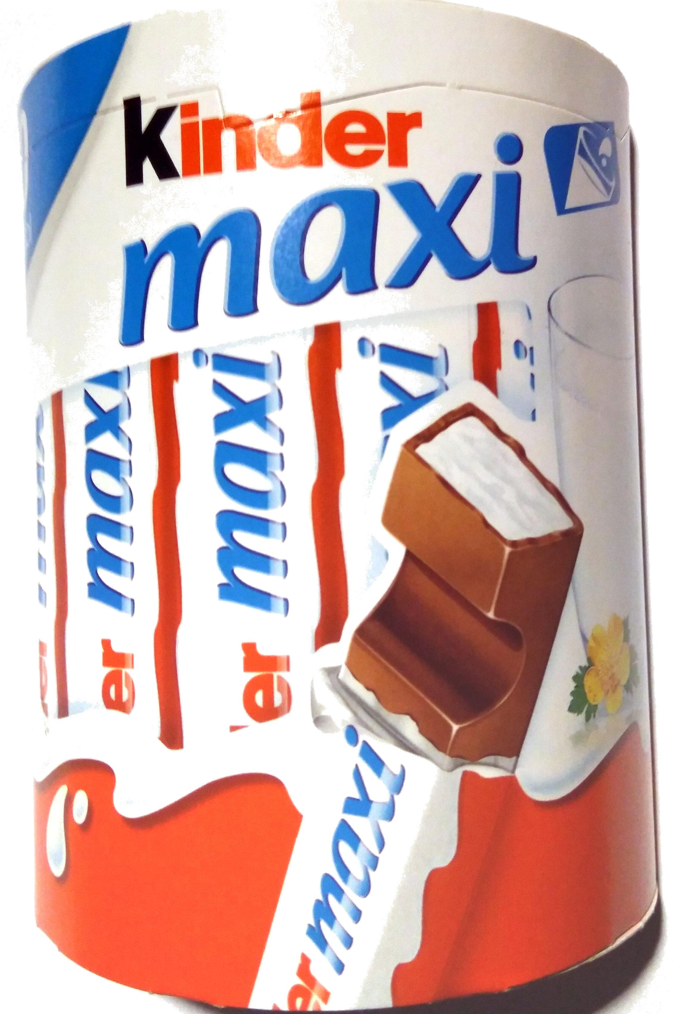Kinder maxi barre chocolat au lait avec fourrage au lait 10 barres - Tuote - fi
