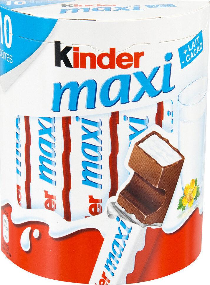 Kinder maxi barre chocolat au lait avec fourrage au lait 10 barres - Product - fr