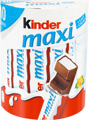 Kinder maxi t10 pack de 10 barres - Product - fr