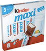 Kinder maxi barre chocolat au lait avec fourrage au lait 5 barres - Product