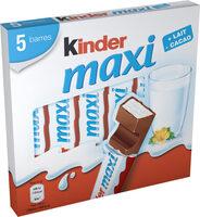 Kinder maxi barre chocolat au lait avec fourrage au lait 5 barres - Prodotto - fr