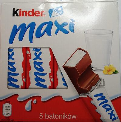 Kinder maxi barre chocolat au lait avec fourrage au lait 5 barres - Produkt - pl