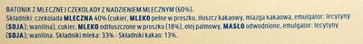Kinder maxi barre chocolat au lait avec fourrage au lait 5 barres - Składniki - pl