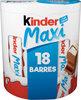 Kinder maxi barre chocolat au lait avec fourrage au lait 18 barres - Produit
