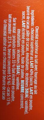 Kinder maxi barre chocolat au lait avec fourrage au lait 18 barres - Ingredienti - fr