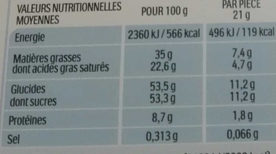 Kinder maxi barre chocolat au lait avec fourrage au lait 18 barres - Informazioni nutrizionali - fr