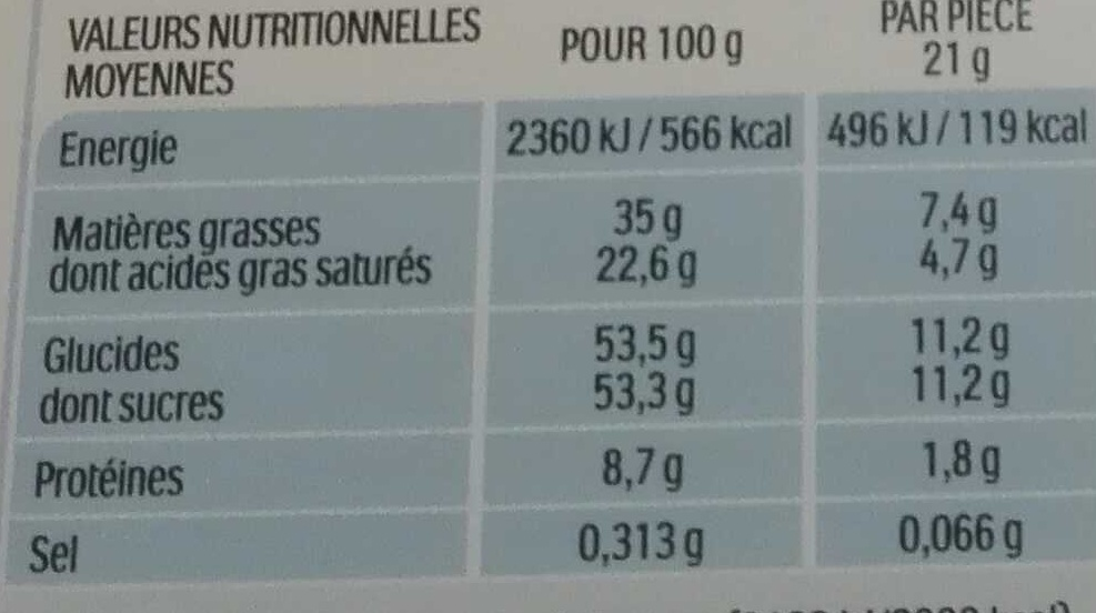 Kinder maxi barre chocolat au lait avec fourrage au lait 18 barres - Valori nutrizionali - fr