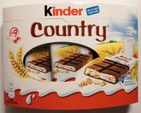Kinder country barre de cereales enrobee de chocolat 9 barres - Produkt - de