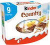 Kinder country barre de cereales enrobee de chocolat 9 barres - Product