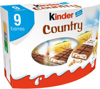 Kinder country barre de cereales enrobee de chocolat 9 barres - Product - fr