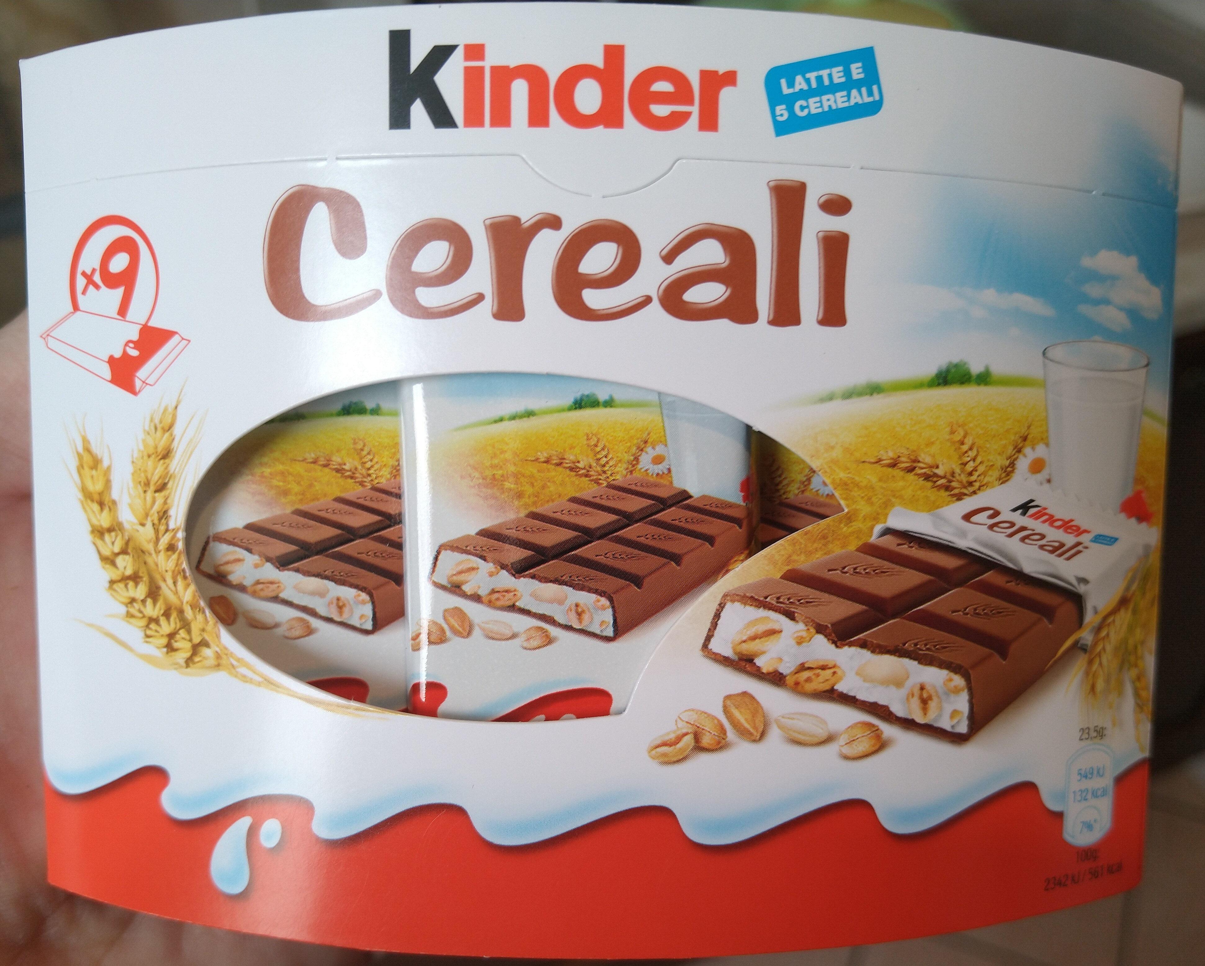 Kinder country barre de cereales enrobee de chocolat 9 barres - Prodotto - it