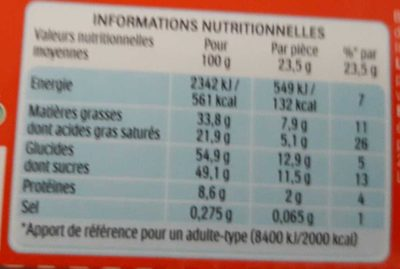 Kinder country barre de cereales enrobee de chocolat 9 barres - Nutrition facts - fr