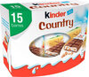 Kinder country barre de cereales enrobee de chocolat 15 barres - Prodotto