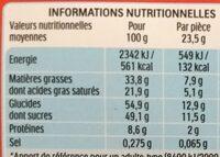 Kinder country - Voedingswaarden - fr