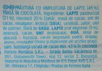 Kinder pingui - Ingredients