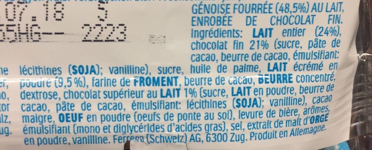Kinder Pingui Chocolate - Ingrédients - fr