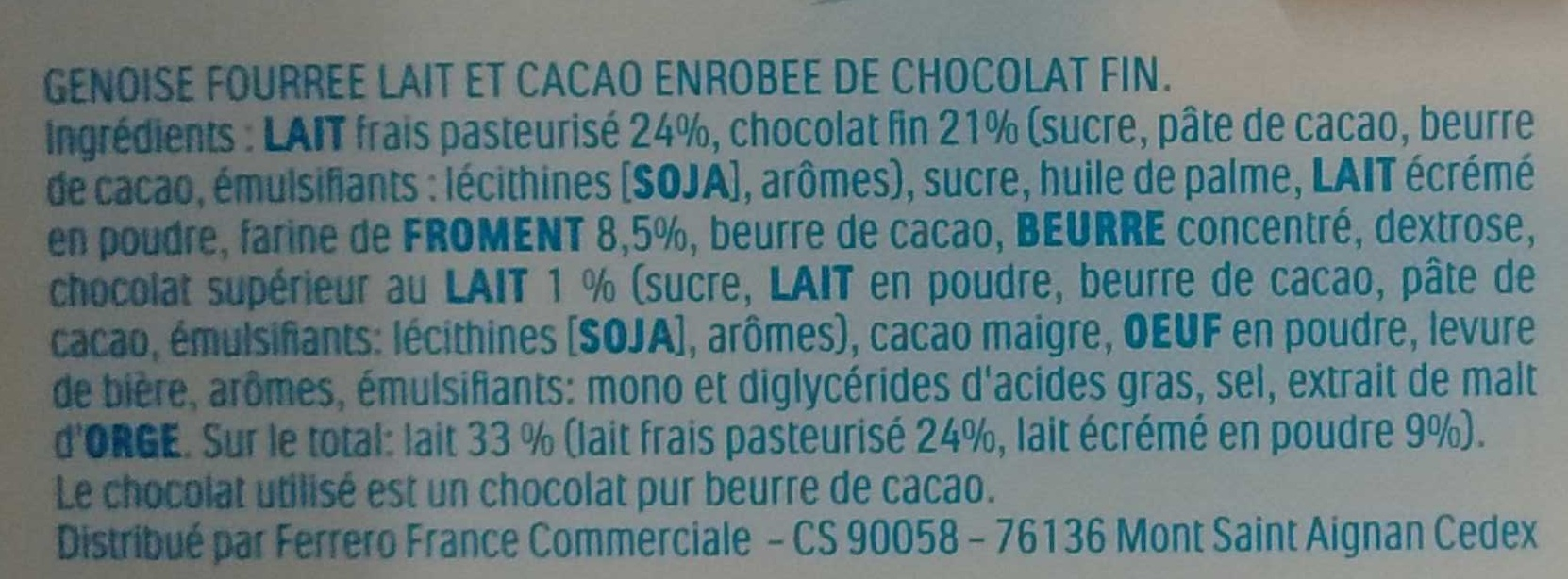 Pingui - Ingredienti - fr