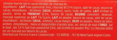 Kinder Pingui Chocolat - Ingredients