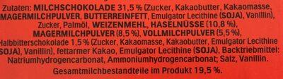 Kinder Bueno +2 Gratis - Ingredienti - de