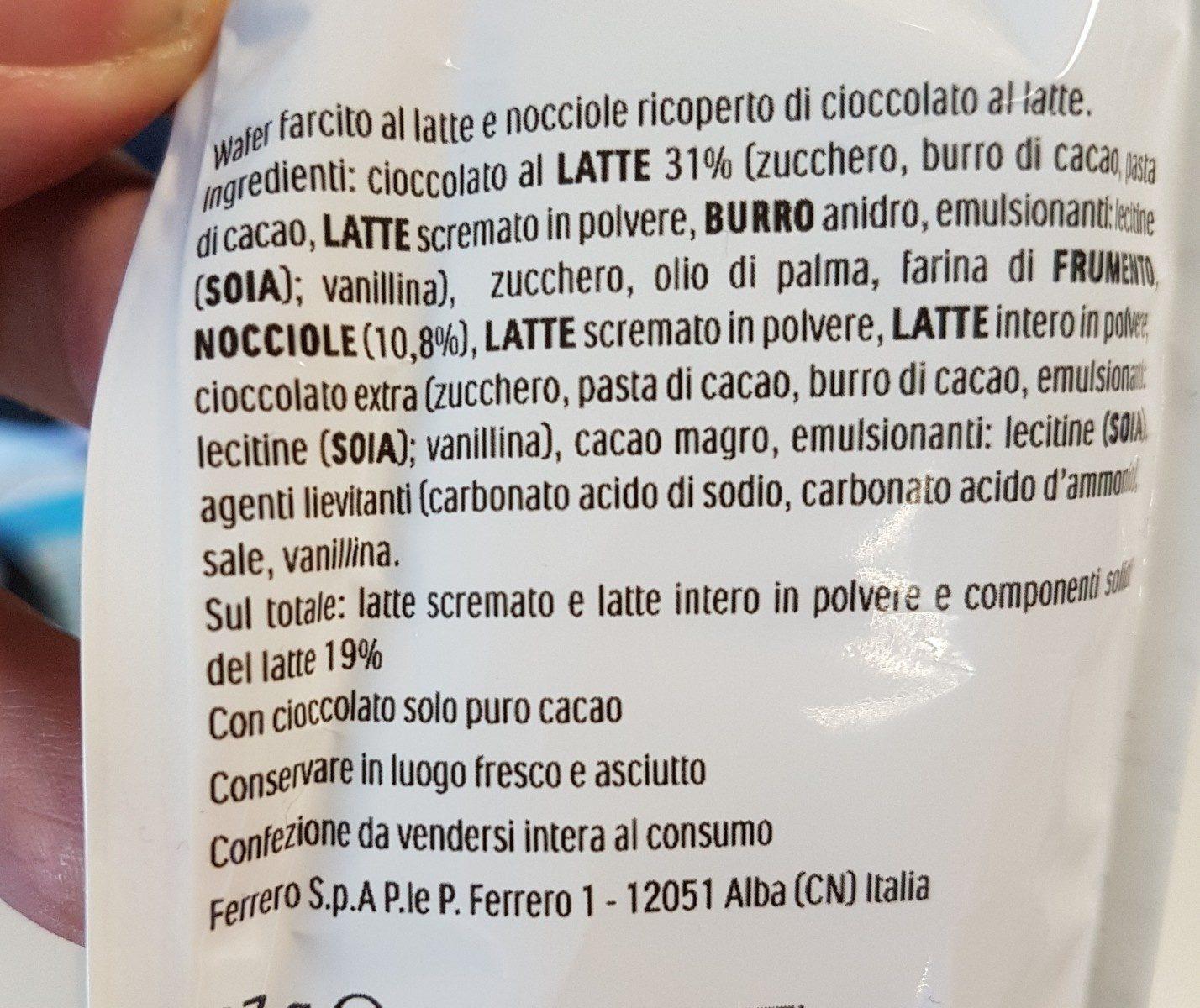 Kinder Bueno Mini - Ingrediënten - fr
