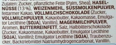 Hanuta - Ingredients