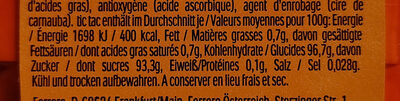 Orange - Nährwertangaben - de