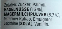 Nutella - Ingrediënten - de