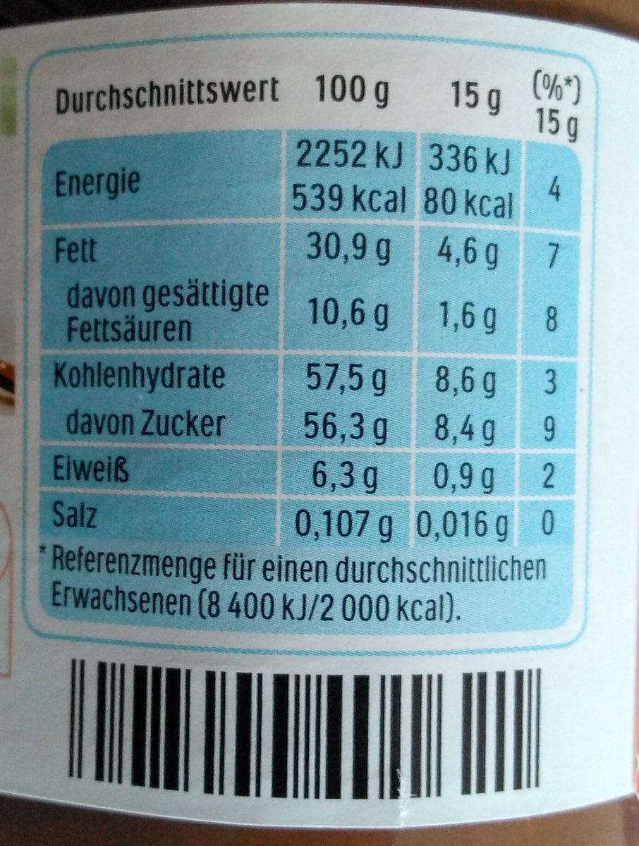 Nutella - Voedingswaarden - de