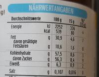 Nutella - Valori nutrizionali - de