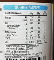 Nutella - Nutrition facts - de