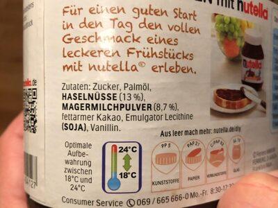 Nutella - Ingrédients - en