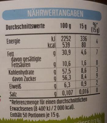Nuss-Nougat-Creme - Informations nutritionnelles - de