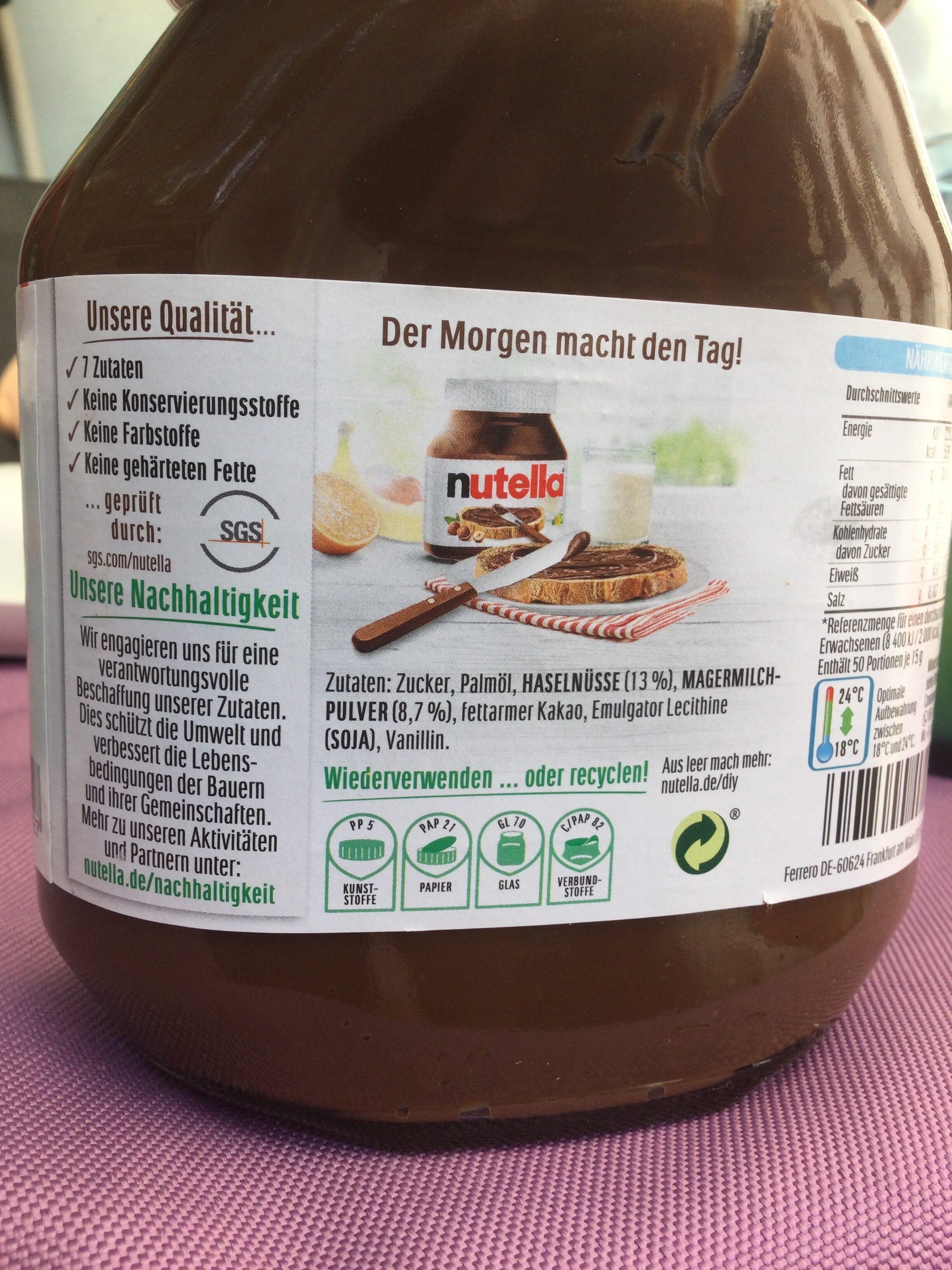 Nutella - Wiederverwertungsanweisungen und/oder Verpackungsinformationen - en