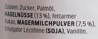 Nutella - Inhaltsstoffe - de