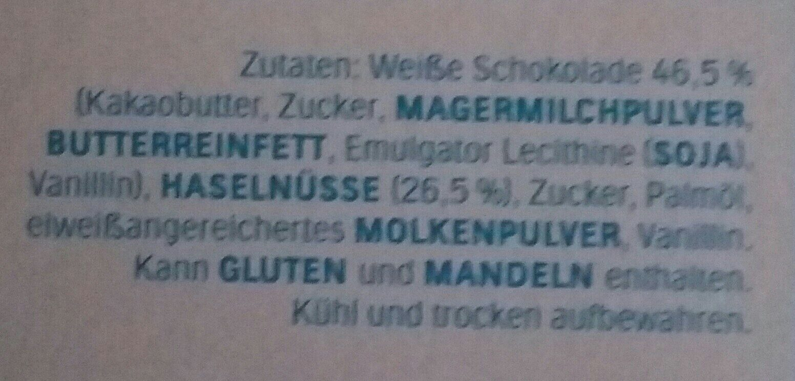 Ferrero Küsschen White 20er Geschenkverpackung - Ingrédients