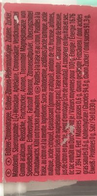 TicTac Strawberry - Ingrédients