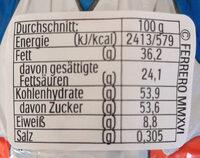 Schoko Osterhase - Nutrition facts - de