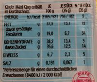 Maxi King - Nutrition facts