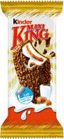 Kinder maxi king etui t1kinder maxi king gouter frais fines gaufrettes enrobees de chocolat au lait et noisettes broyees, avec fourrage lait et caramel etui t1 - Продукт - fr
